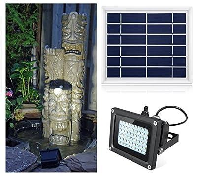 Oasity Solar LED Light – 500 Lumens – IP65 Waterproofness Rating – Perfect Solar Spotlight For Patio, Gazebo, Or Backyard