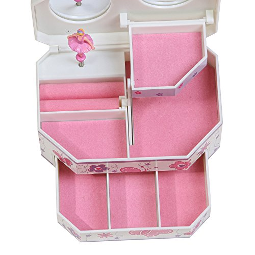 Mele & Co.. Kelsey Girl's Musical Ballerina Jewelry Box (Butterfly and Flower Design) by Mele & Co. (Image #4)