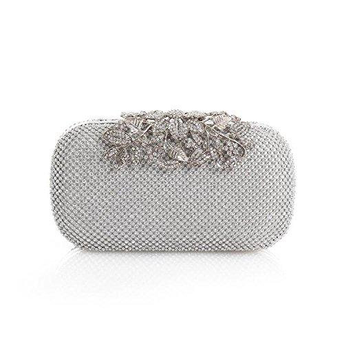 Sac Avec Sac Silver Diamant Femme Banquet Diamant Avec Nouveau YXLONG Strass De Sac De Pochette Sac Soirée Soirée Robe Lady BFRwv7