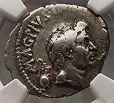 Julius Caesar Enemy Pompey the Great son Sextus NGC VF AR Roman Coin...