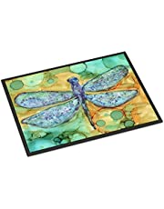 "Caroline's Treasures Abstract Dragonfly Indoor or Outdoor Mat 24x36 8967JMAT, 8967JMAT, Multicolor, 24"" H x 36"" W"