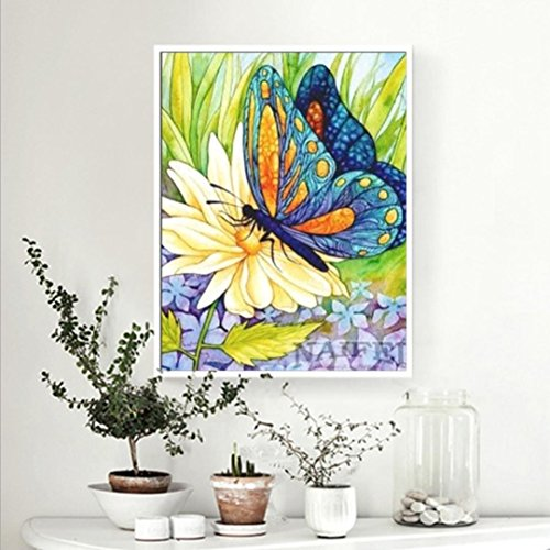 - Pollyhb 5D Diamond Painting, 5D Embroidery Paintings Rhinestone Pasted New DIY Diamond Painting Cross Stitch Home Decor,Yellow Rose,Butterfly,Flowers (C, 30X40cm)