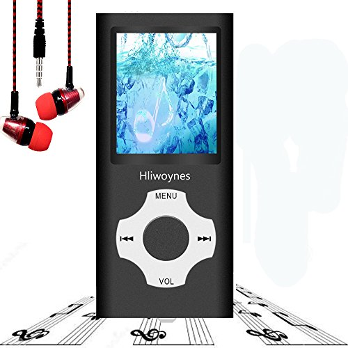 Mp3 Player, Music Player, Hotechs Hi-Fi Sound, with FM Radio, Recording Function Build-in Speaker Expandable Up to 64GB with Noise Isolation Wired Earbuds ... (Black)