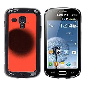 GOODTHINGS Funda Imagen Diseño Carcasa Tapa Trasera Negro Cover Skin Case para Samsung Galaxy S Duos S7562 - punto negro planeta rojo profundo abstracto