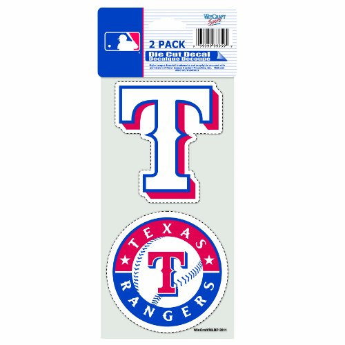 MLB Texas Rangers 2-Piece Die-Cut Decal, 4