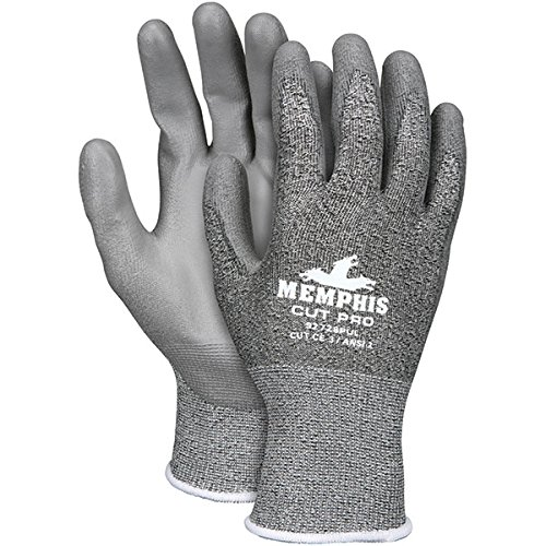 MCR Safety Cut Pro PU Coated Gloves, Large (48 Pair)
