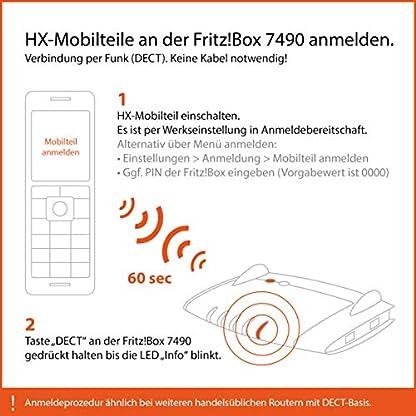 Gigaset C430HX Duo – 2 schnurlose IP-Telefone (zum Anschluss an Router oder Basisstationen - klassische Mobilteile mit Farbdisplay und HD-Voice) schwarz-silber 3