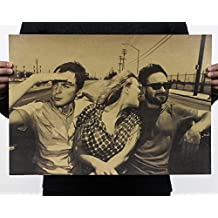 Fange Big Bang Theory Group TV Show Poster Antique Vintage Old Style Decorative Poster Print Wall Decor Decals 20''x13.9''