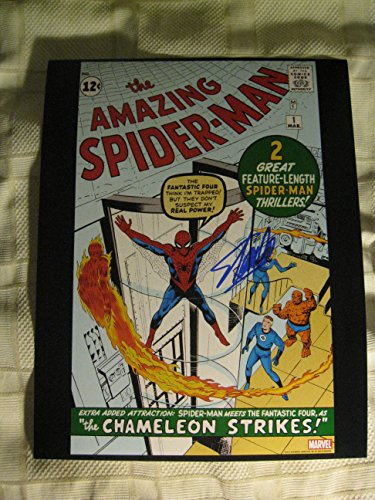 Stan Lee Amazing Spiderman #1 Signed/Autographed 11x14 Glossy Photo. Includes Fanexpo Certificate of Authenticity and Proof of signing. Entertainment Autograph Original.