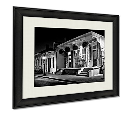 Ashley Framed Prints New Orleans, Wall Art Home Decoration, Black/White, 30x35 (frame size), AG5467048 by Ashley Framed Prints