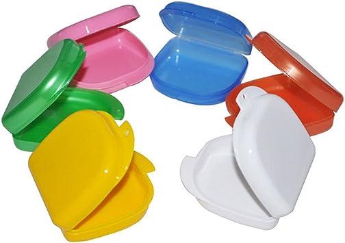 NAttnJf Portátil No tóxico Durable Estuche de almacenamiento de prótesis dental Caja de almacenamiento de prótesis dental Dientes falsos Protector bucal: Amazon.es: Salud y cuidado personal