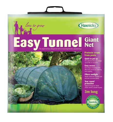 Tierra Garden 50-5020 Haxnicks Easy Shade Net Tunnel Garden Cloche, - Insect Garden Netting