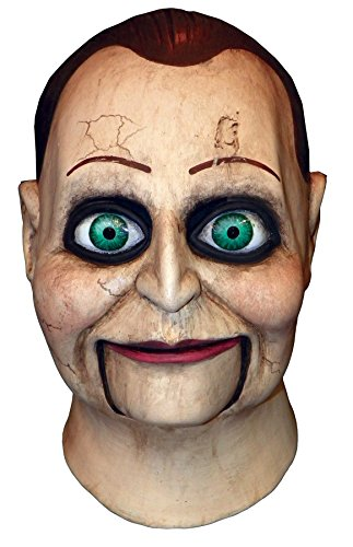 UHC Men's Creepy Dead Silence Billy Puppet Scary Party Latex Halloween Mask