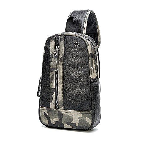 ivotre Camouflage Kreuz Körper Tasche stylische Marke neue Schulter-, Funktionales und utilitaristisch, Casual Tasche Fahrrad Tasche für Männer, Frauen, Teens
