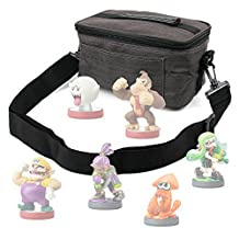 Canvas Carry Case / Store Bag with Shoulder Strap for the Nintendo Amiibo Figures (Wii U / 3DS / Nintendo Switch) - by DURAGADGET