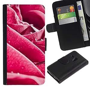 Paccase / Billetera de Cuero Caso del tirón Titular de la tarjeta Carcasa Funda para - Plant Nature Forrest Flower 3 - Samsung Galaxy S3 MINI NOT REGULAR! I8190 I8190N