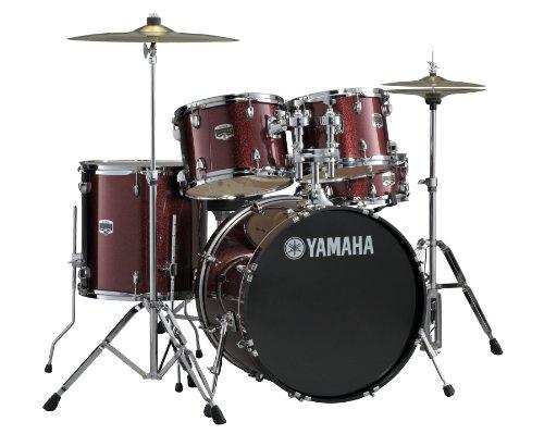 Yamaha Gigmaker 5 Piece Standard Shell Pack, Burgundy (5 Piece Drum Shell)