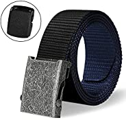 ITIEZY Men's Military Tactical Web Belt, Nylon Canvas Webbing Buckle