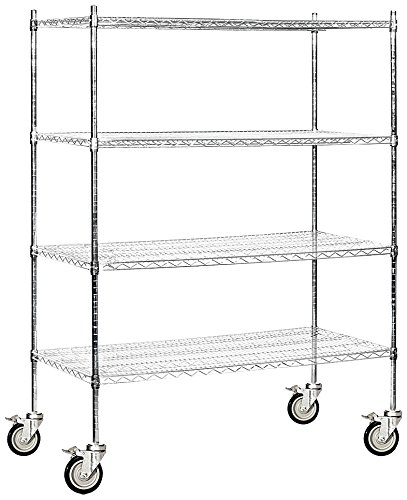 Salsbury Industries Mobile Wire Shelving Unit, 60-Inch Wide