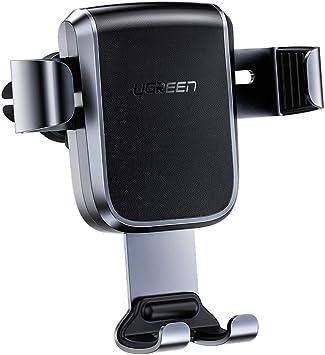 UGREEN Soporte Móvil Coche Gravedad, Soporte Teléfono para Rejilla del Aire, Sujeta Smartphone Automatico Ajustable por Gravedad para Samsung S20 S9, Huawei P30, Xiaomi Redmi Note 8 Mi10, iPhone 11 X: Amazon.es: