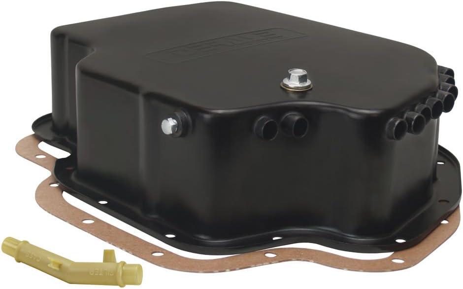 Derale 14202 Transmission Cooling Pan for GM Turbo 400 Deep Pan, Black