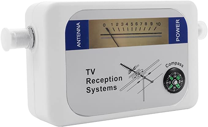 LeaningTech DVB-T Medidor de Campo Finder Digital Aerial Terrestrial TV Antena Signal Strength Metro SEÑAL Blanco
