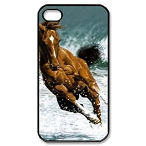 ALICASE Diy Customized hard Case Horse For Iphone 4/4s [Pattern-1]