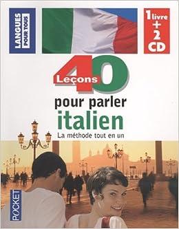Coffret 40 Lecons Pour Parler Italien Livre 2cd Ancienne