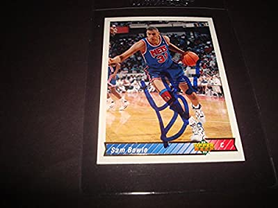 1992-93 UPPER DECK SAM BOWIE NETS Kentucky SIGNED AUTHENTIC AUTOGRAPH CARD -K