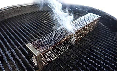 Onlyfire 30,5 cm Tubo affumicatore in Acciaio Inossidabile Tubo Generatore di Fumo Freddo