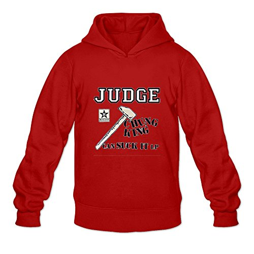 Crystal Men's Judge Long Sleeve T Shirts Red US Size XL
