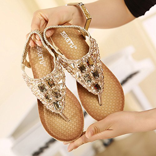 SIKETU Women's Fashion Sandals silver silver 3 UK, 4 UK, 5 UK, 6 UK Golden