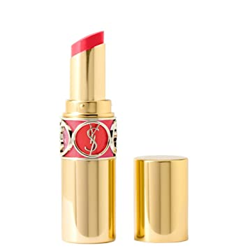 5efd6fc655655 Yves Saint Laurent Rouge Volupte Shine Lipstick No.12 Corail Incandescent  for Women, 0.15 Ounce
