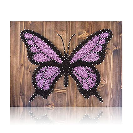 Diy String Art Kit Butterfly String Art Butterfly Diy Kit Crafts Kit Gift Ideas Butterfly Decor Home Decor Includes All Supplies