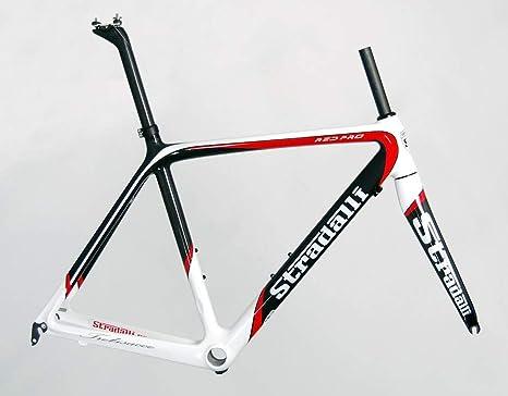 Stradalli - Marco de Bicicleta de Carretera (Carbono), Color Rojo ...