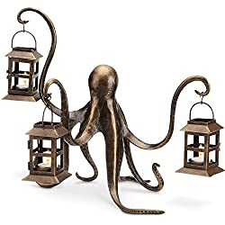 "Spi Home Octopus Lantern,Brown,13.5"" x 18"" x 15"""