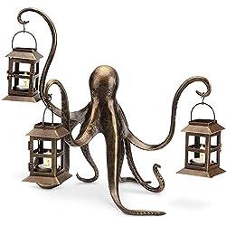 "Spi Home Octopus Lantern,Brown,13.5"" x 18"" x 15"""