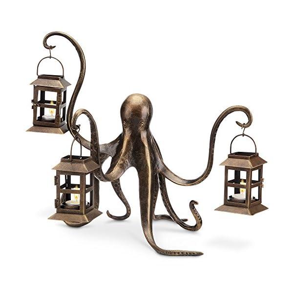 "Spi Home Octopus Lantern,Brown,13.5"" x 18"" x 15"" 3"