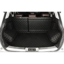 Auto mall FTM21 Waterproof Custom Fit Full Covered Trunk Mats Cargo Liners Leather Boots Liner Pet Mats for Ford Escape 2013-2016(Black)