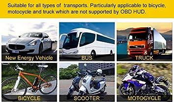 DATUANZI C80 Digital Auto GPS Tachometer Geschwindigkeitsanzeige KM//h MPH F/ür Fahrrad Motorrad Auto