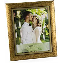 "WoodArt Crafted Wooden Picture Frame (8x10"", Antique Gold)"