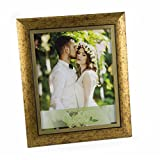"""WoodArt Crafted Wooden Picture Frame (4x6"""", Antique Gold)"""