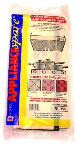 Cooker hood grease & charcoal filters universal x 2 47cm X 57cm Qualtex