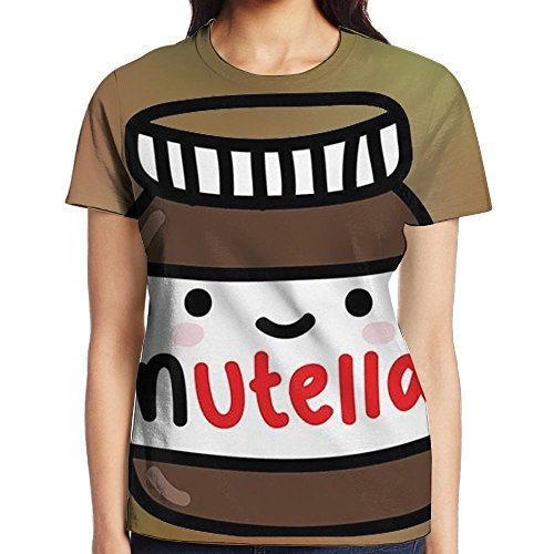 Ruby Fondos Tumblr Nutella Tee Short Sleeve T-Shirt Slim Fit Round Neck For Girls