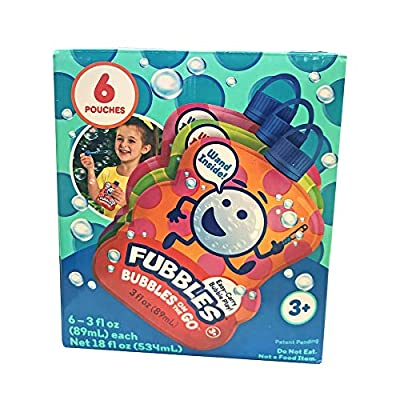 Little Kids Fubbles Bubbles On The Go 6 Pack Active Play for Ages 3 to 7: Toys & Games