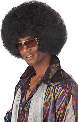 Afro Costumes (California Costumes Men's Afro Chops Wig,Black,One Size)