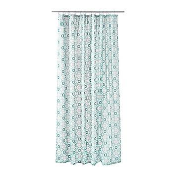 Ikea Duschvorhang ikea ingeborg shower curtain white turquoise 180x180 cm