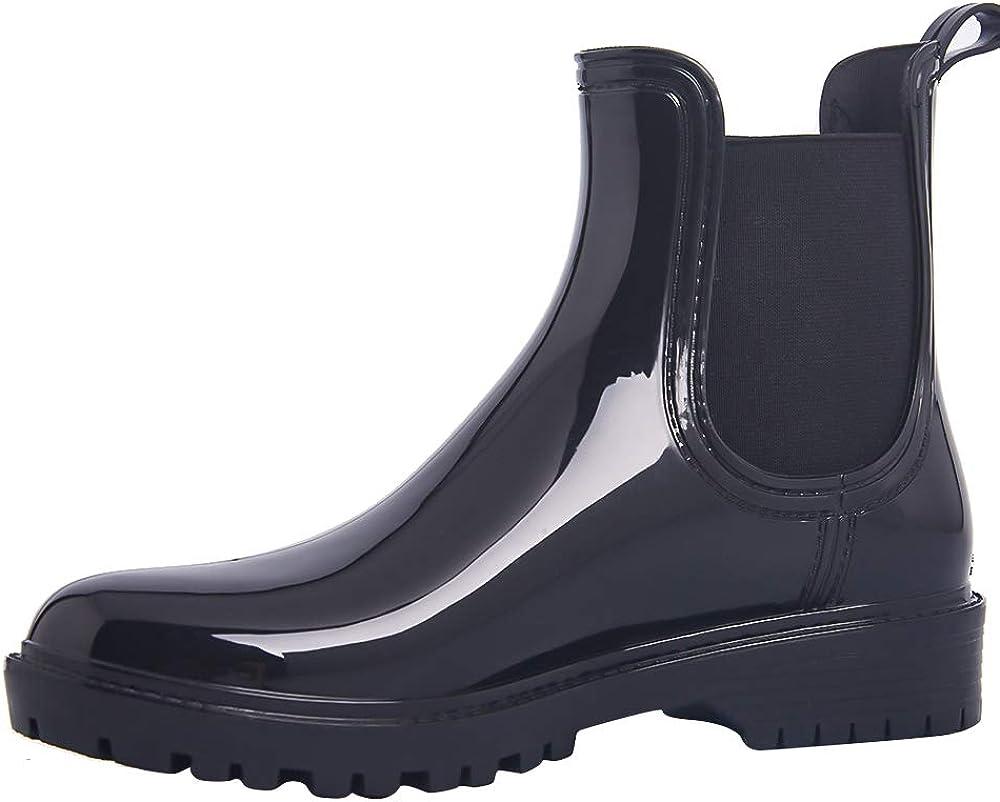 IBAOTTY Chelsea Rain Boots for Women