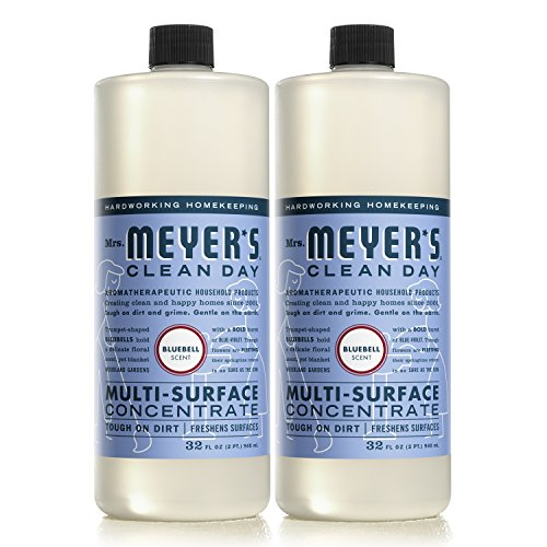 Surface Cleaner Concentrate (MRS MEYERS Multi-Surface Concentrate, Bluebell, 32 Fluid Ounce (Pack of 2))