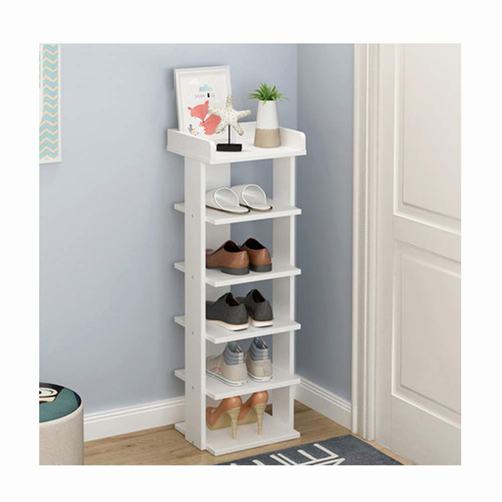 Lyqqqq Place Debris, Multi-Layer Waterproof and Moisture-Proof MDF 4 Colors Storage Shelf (Color : White, Size : 25x27x104cm)
